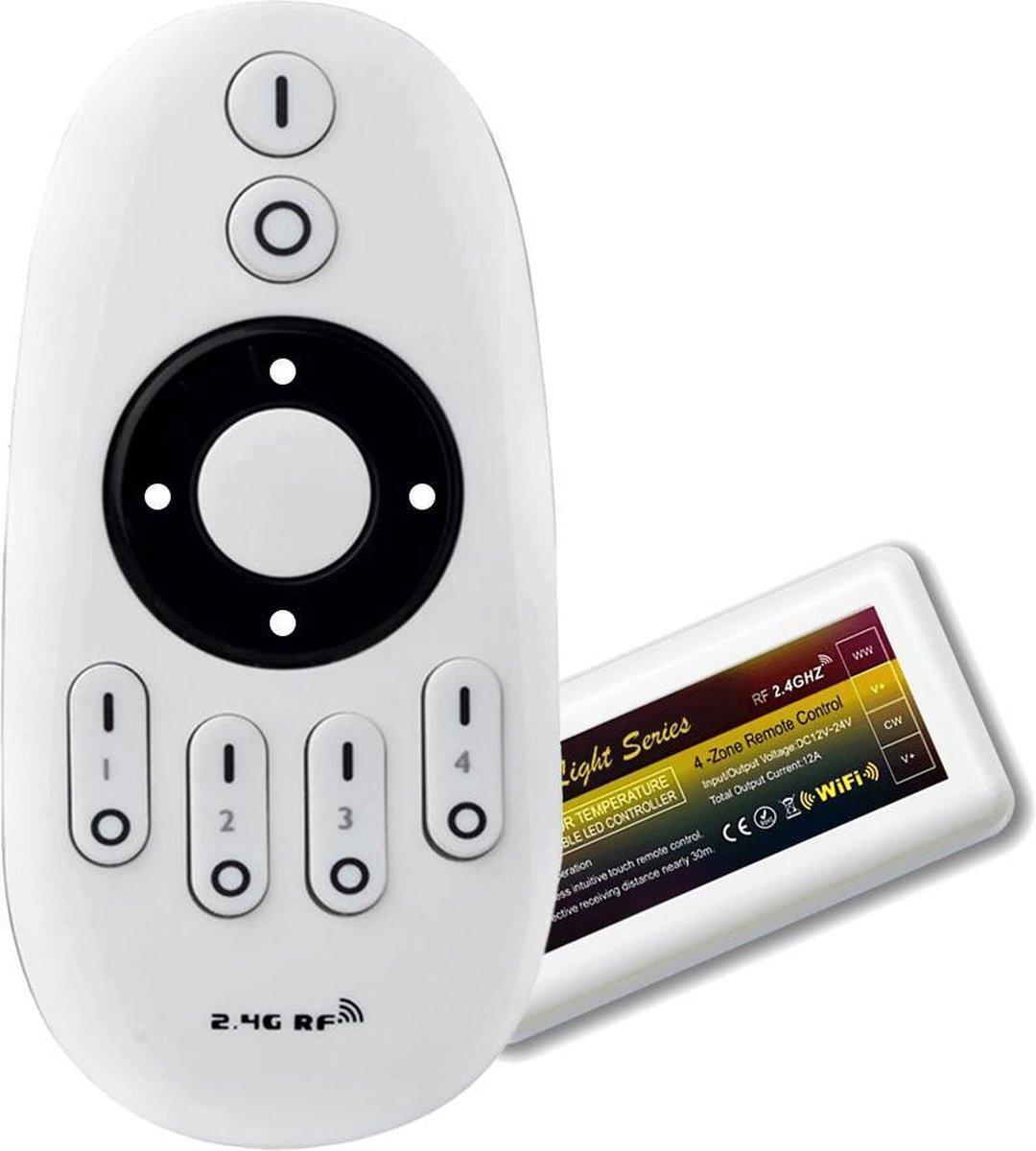 Milight 4-zone afstandsbediening voor Dual White led strips en lampen