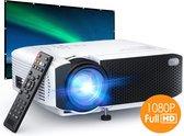 Gadgetplace Mini beamer met Surround Sound Speakers - Input tot Full HD - 4000 Lumen - Compact en draagbare LED projector - Ideaal voor Netflix en Videoland