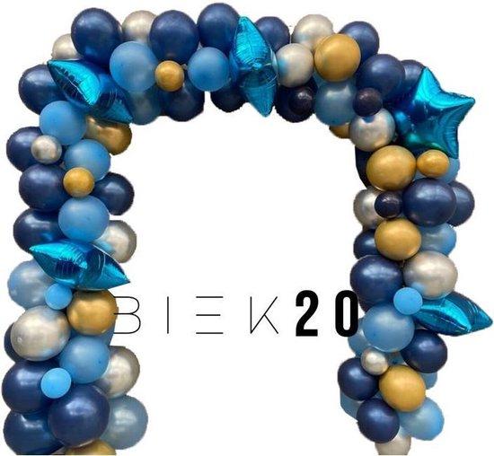 Ballonnenboog - Blauw - BIEK20 - met ophanghaakjes - Feest Versiering - Party Decoratie - Verjaardag - 106 stuks