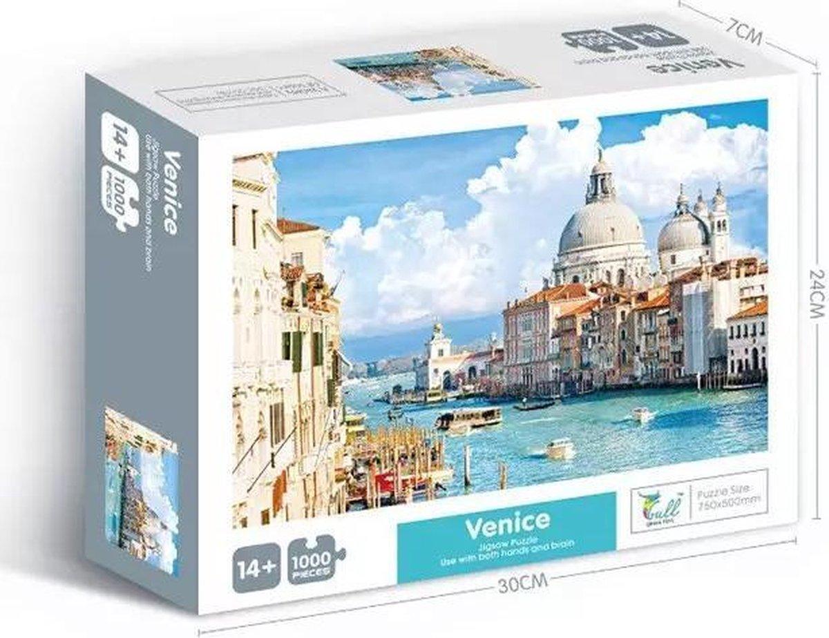 Puzzel 1000 Stukjes Volwassenen - Puzzel 1000 stukjes - puzzel Legpuzzels Puzzle Jigsaw Puzzels - Speelgoed Hobby en Creatief Voor Volwassenen - 50*70 cm - puzzels voor volwassenen- Venice 1000 stukjes