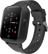Wonlex GPS horloge kind tracker VideoCall 4G AQUA Wifi Zwart SOS videobellen [IP67 waterdicht] incl. SIM-kaart