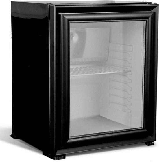 Koelkast: Combisteel | Minibar koelkast | horeca glasdeur koelkast | stille koeling | 60 liter | Zwart, van het merk Combisteel