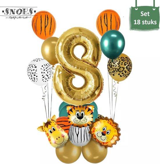 Dieren Ballon Pakket * 8 Jaar * Jungle Ballon * Dieren Feest * Jungle Feest * Verjaardag Feest * Hoera 8 Jaar * Gefeliciteerd * Kinderfeestje * Jungle Party * Snoes