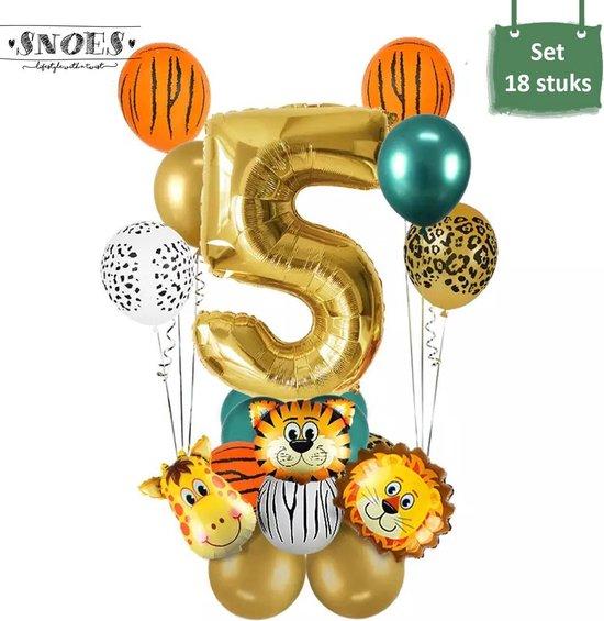 Dieren Ballon Pakket * 5 Jaar * Jungle Ballon * Dieren Feest * Jungle Feest * Verjaardag Feest * Hoera 5 Jaar * Gefeliciteerd * Kinderfeestje * Jungle Party * Snoes