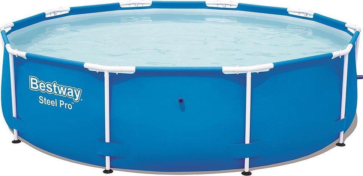 Bestway Steel Pro Frame Pool Zonder Pomp Rond 305x76cm Zwembad Blauw