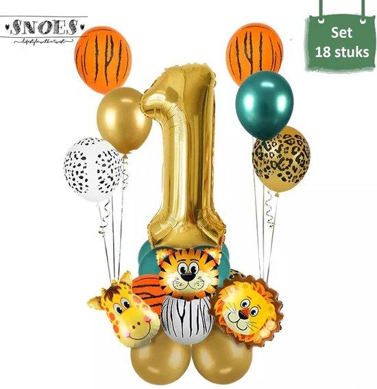 Dieren Ballon Pakket * 1 Jaar * Jungle Ballon * Dieren Feest * Jungle Feest * Verjaardag Feest * Hoera 1 Jaar * Gefeliciteerd * Kinderfeestje * Jungle Party * Snoes