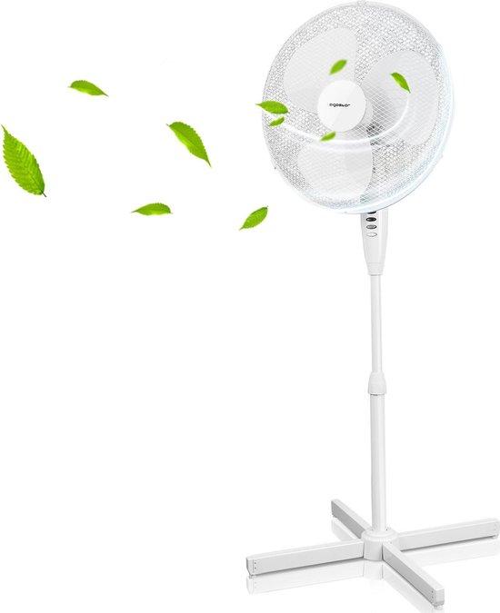 Aigostar Daisy 33JTP - Ventilator Staand/Statiefventilator - Wit