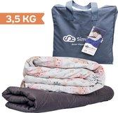 Verzwaringsdeken Kind 3,5KG Weighted Blanket Kinderen - Beter slapen- Oeko Tex Keurmerk –Bos dieren - 100x150