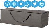 ATLANTIS | Opbergtas voor Tuinmeubelkussens | 200 x 75 x 60 cm (4 – 6 lounge- tuinkussens) | Premium | TÜV Rheinland Gecertificeerd | Solution Dyed (verkleuring onmogelijk) | Grijs / Antraciet