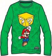 Super Mario  T-shirt Lange mouw - Groen - Maat 116 cm / 6 jaar