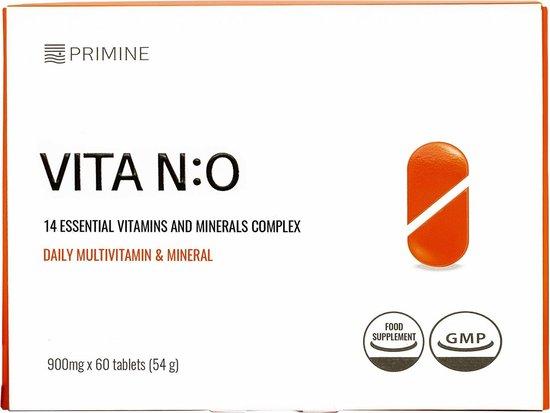 VITA N:O - Premium Multivitaminen - Werelds Eerste Met Hoge Absorptie - (veggie) - 60 Pillen
