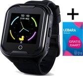 4G Smartwatch Kinderen - Kinderhorloge - GPS Tracker - (Spat)Waterproof - Zaklamp - Camera - SOS Functie - Locatie Traceren - HD videobellen - Simkaart - Niet Storen Functie - kinder smartwatch met bel functie - Zwart