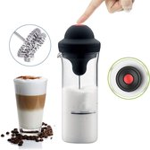 Living Nine Melkopschuimer Handmatig - Melkschuimer - Senseo & Nespresso - Anti-aankoek Glas