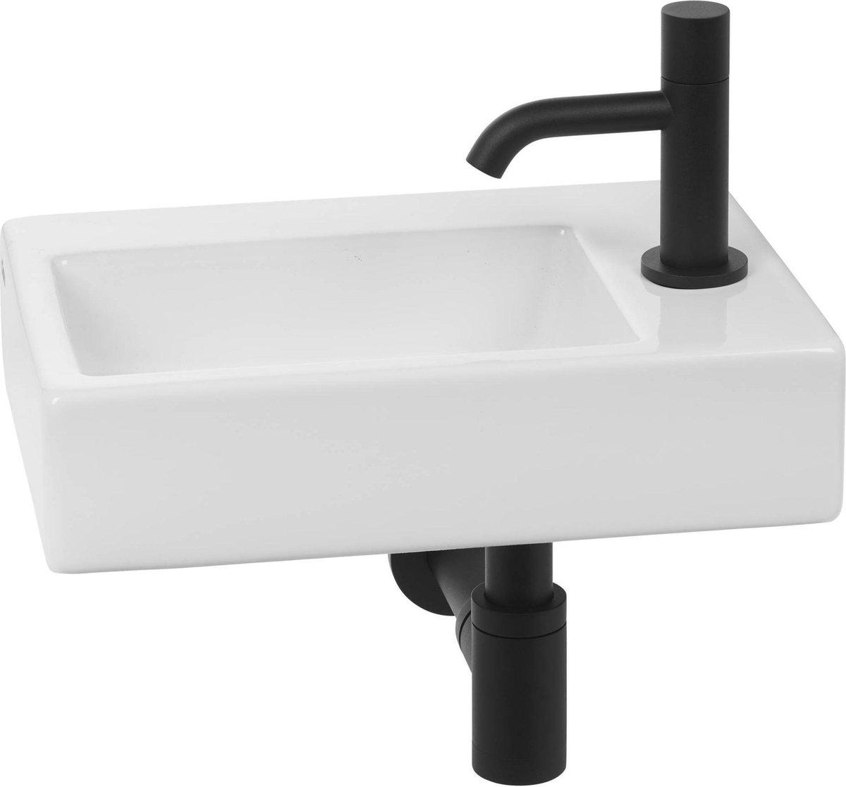 Clou Flush 2 Complete Fonteinset rechts Wit/Zwart