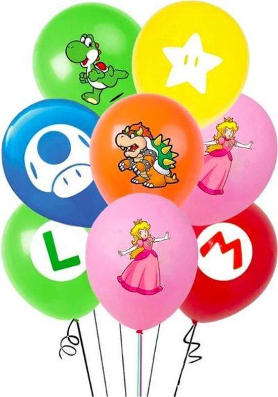 ProductGoods - 12x Mario Ballonnen Verjaardag - Verjaardag Kinderen - Ballonnen - Ballonnen Verjaardag - Super Mario - Kinderfeestje
