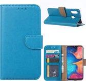 Samsung Galaxy A20e Hoesje Turquoise met Pasjeshouder