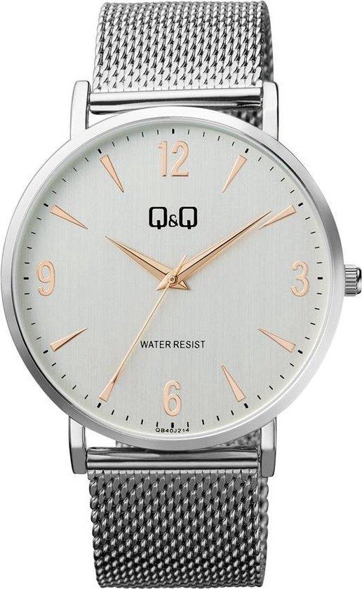 Mooi stijlvol Q&Q horloge met Milanese band QB40J214