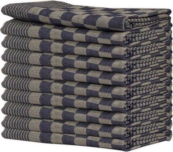 Queens 10-pack Theedoeken - 65x65 cm - Blauw
