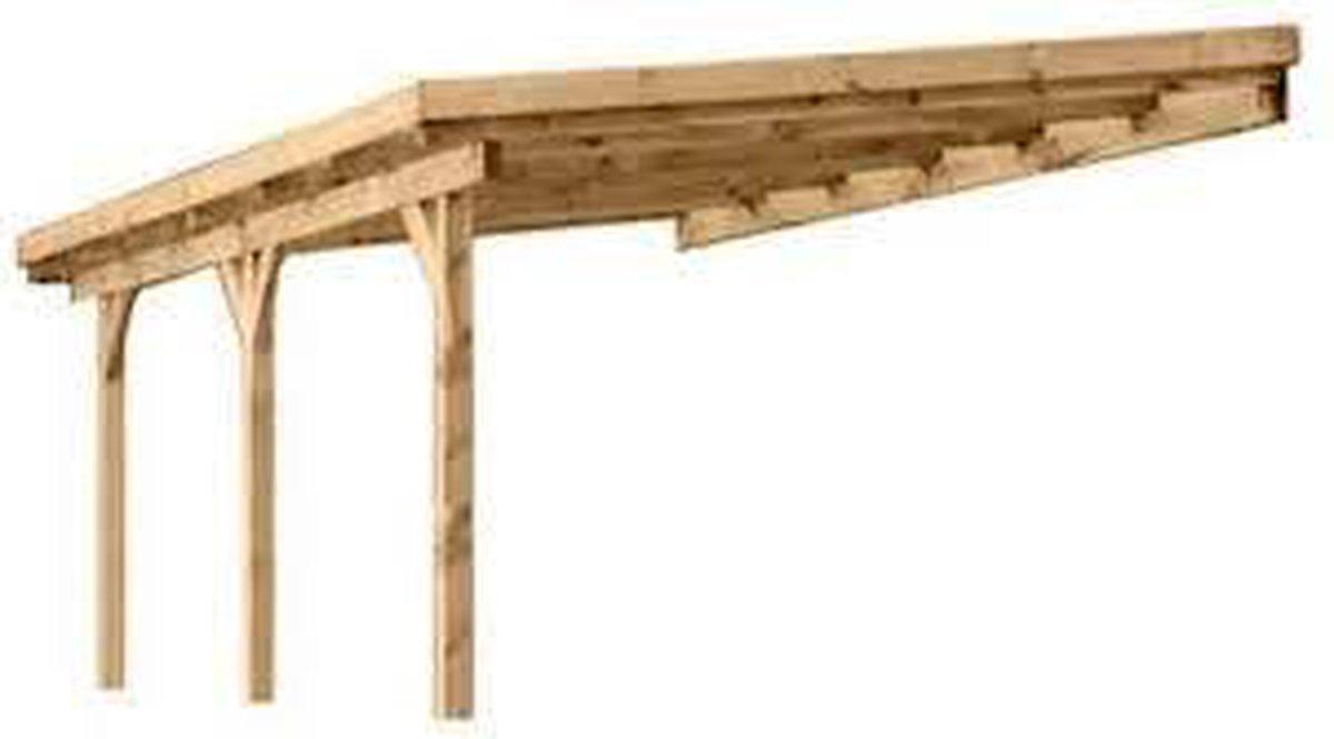 overkapping Muur aanbouw incl. dak 3x5 Ge mpregneerd