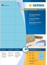 HERMA Etiketten A4 blauw 70x37 mm Papier mat 2400 St.