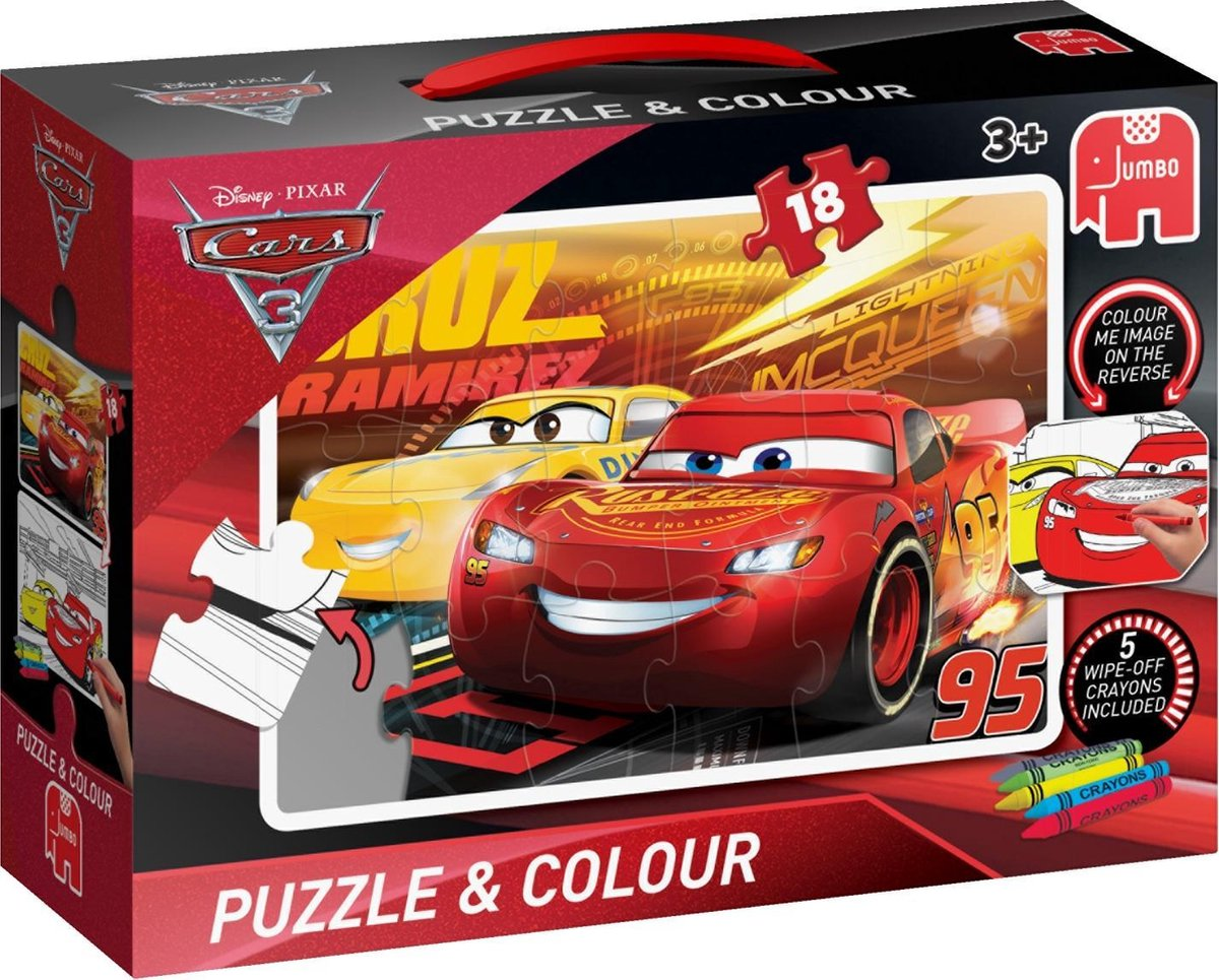 Cars 3 Puzzle & Colour