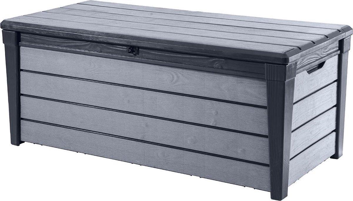 Keter Brushwood Opbergbox - 455L - 145x69,7x60,3cm - Grafiet