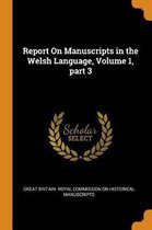 Report on Manuscripts in the Welsh Language, Volume 1, Part 3