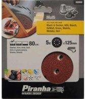 Piranha Schuurschijf  excentrische schuurmachine 125mm, 80K 5 stuks X32032