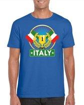 Blauw Italiaans kampioen t-shirt heren - Italie supporters shirt L