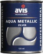 Avis Aqua Metalliclak - Zilver - 125 ml