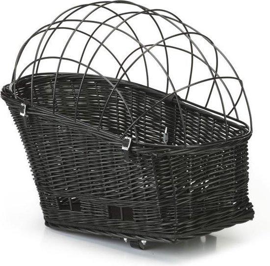 Beeztees - Fietsmand + bagagedrager + kap - Zwart - 45x23 cm