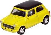 Welly Metalen mini cooper 1300: geel 7 cm