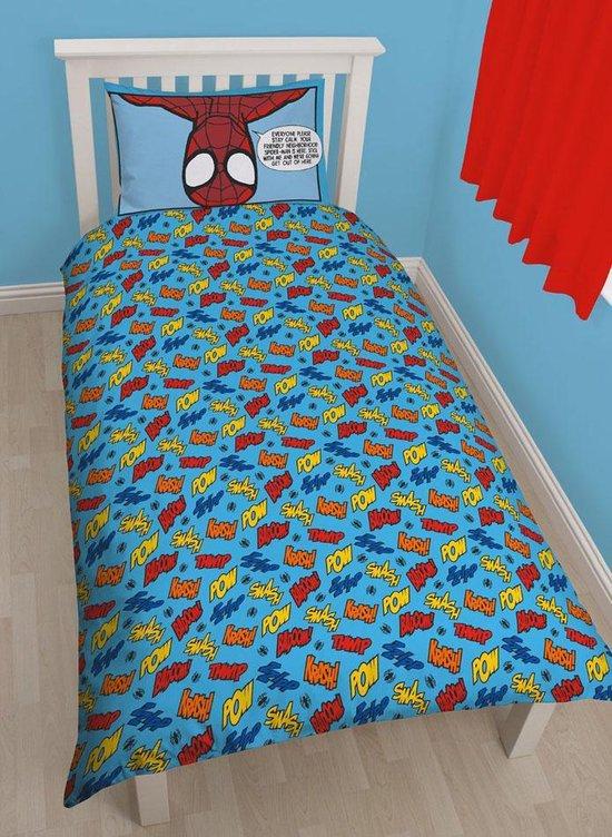 Disney Marvel Spiderman - Dekbedovertrek - Eenpersoons - 135x200 cm - Blauw - Overige merken