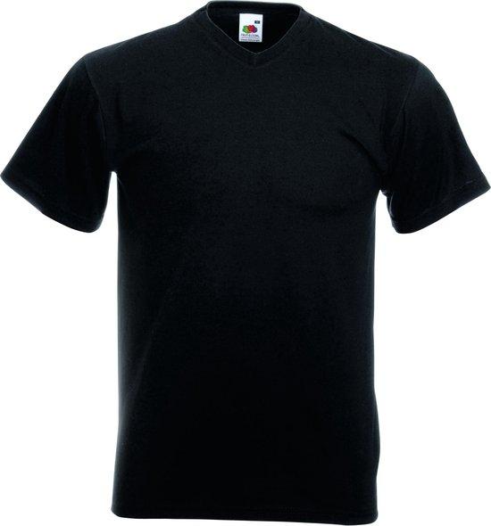 5-Pack Fruit of the Loom T-shirts - V-hals - Zwart - Maat M