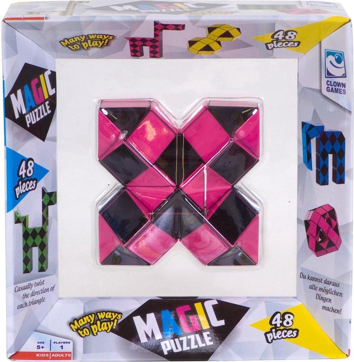 Clown Magic Puzzle 48dlg Roze