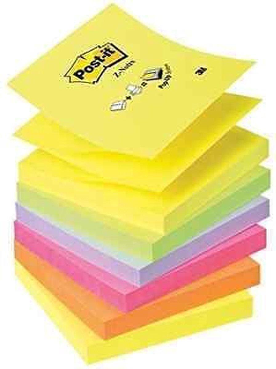 Post-it® Z-Notes Navullingen - Geel (2), Groen (1), Paars (1), Roze (1), Oranje (1) - 6 stuks - Post-it