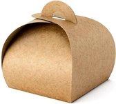 """""""""""""""Boxes, kraft, 6x6x5.5cm (1 zakje met 10 stuks)"""""""""""""""