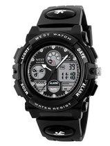West Watch – multifunctioneel kinder/ tiener sport horloge - model Rock - Chronograaf – Shockproof - Digitaal/Analoog - Zwart
