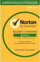 Norton Security Standaard | 1 Apparaat | 1 Jaar | Engelse verpakking | Alle Europese talen | OEM | Met Installatie DVD-ROM