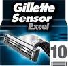 Gillette Sensor Excel Scheermesjes Mannen - 10 Stuks