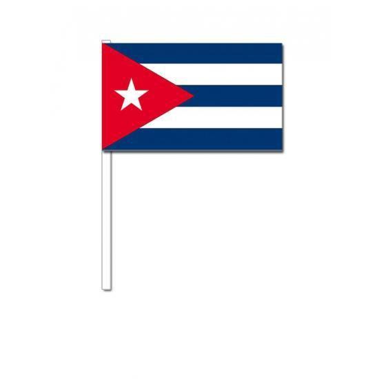 50 Cubaanse zwaaivlaggetjes 12 x 24 cm