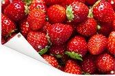 Een hoopje aardbeien Tuinposter 180x120 cm - Tuindoek / Buitencanvas / Schilderijen voor buiten (tuin decoratie) XXL / Groot formaat!