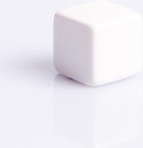 Afbeelding van het spel 6 Vlakken Dobbelsteen Wit Blanco 16mm Set van 12