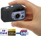 T7000 1080P Mini digitale camera / Mini DV, 3,0 megapixels ondersteuning TF-kaart (zwart)