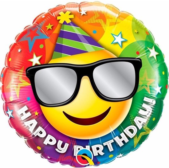 Folie helium ballon gefeliciteerd 45 cm - verjaardag
