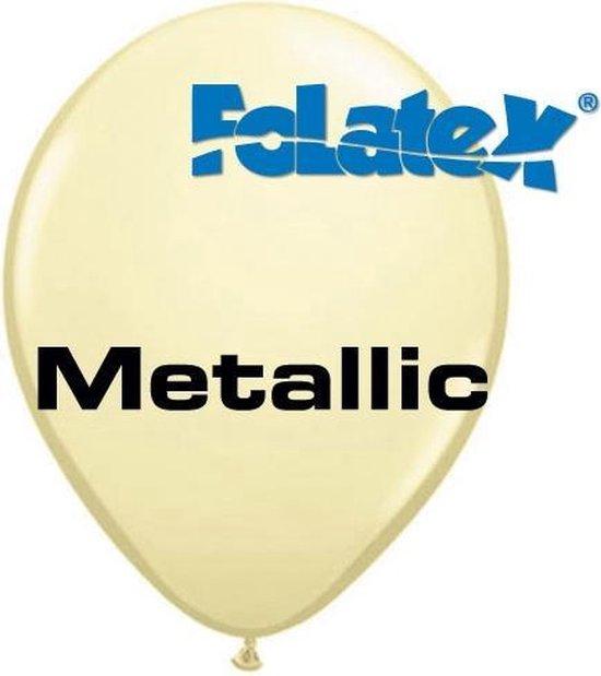 Ballonnen Metallic Ivoor 30 cm 25 stuks