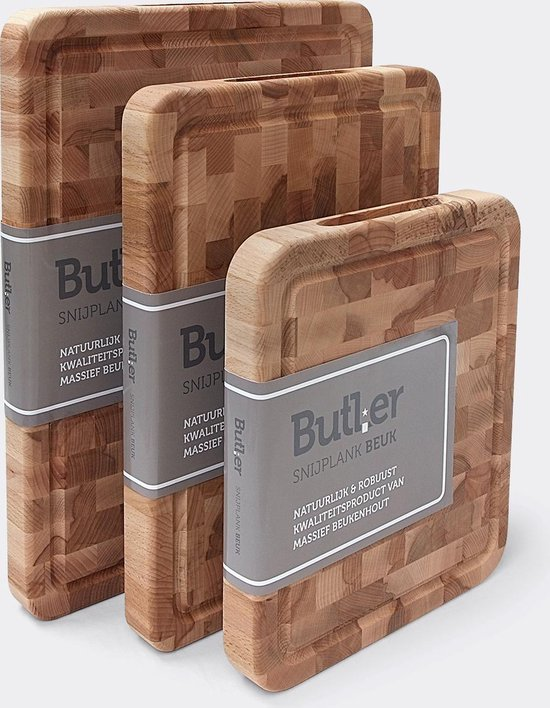 Butler Snijplank - kopsbeukenhout - 45 x 35 x 4 cm