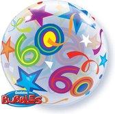Qualatex - Folieballon - Bubbles - 60 Jaar - Zonder vulling - 56cm