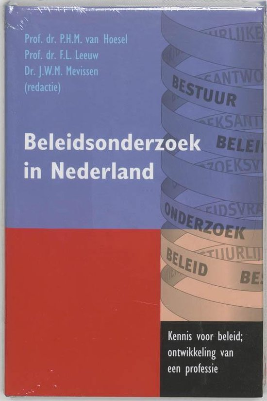 Beleidsonderzoek in Nederland - van De Hoesel pdf epub