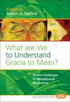 What Are We to Understand Gracia to Mean?